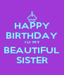 HAPPY BIRTHDAY TO MY BEAUTIFUL SISTER - Personalised Poster A4 size