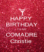 HAPPY  BIRTHDAY TO MY COMADRE Christie  - Personalised Poster A4 size