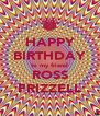 HAPPY BIRTHDAY to my friend ROSS FRIZZELL - Personalised Poster A4 size