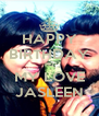 HAPPY BIRTHDAY TO MY LOVE JASLEEN - Personalised Poster A4 size