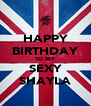 HAPPY BIRTHDAY TO MY SEXY SHAYLA - Personalised Poster A4 size