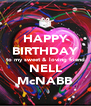 HAPPY BIRTHDAY to my sweet & loving friend NELL McNABB - Personalised Poster A4 size