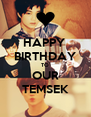HAPPY  BIRTHDAY TO OUR TEMSEK - Personalised Poster A4 size