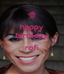 happy birthday to rofi  - Personalised Poster A4 size