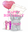 HAPPY BIRTHDAY   TO YOU - Personalised Poster A4 size