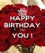 HAPPY BIRTHDAY TO YOU !  - Personalised Poster A4 size