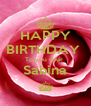 HAPPY BIRTHDAY  To you dear  Sabina ^ - Personalised Poster A4 size