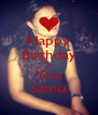 Happy Birthday To You Samia - Personalised Poster A4 size