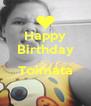 Happy Birthday ... Toimata  - Personalised Poster A4 size