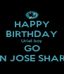 HAPPY BIRTHDAY Uriel boy GO SAN JOSE SHARKS - Personalised Poster A4 size