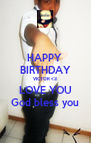 HAPPY  BIRTHDAY VICTOR <3 LOVE YOU God bless you - Personalised Poster A4 size