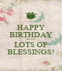 HAPPY BIRTHDAY WITH LOTS OF BLESSINGS! - Personalised Poster A4 size
