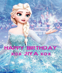 HAPPY BIRTHDAY xox JIYA xox - Personalised Poster A4 size