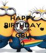HAPPY BIRTHDAY YOLANDA GBU :) - Personalised Poster A4 size