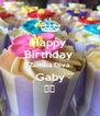 Happy  Birthday  Zumba Diva Gaby ❤️ - Personalised Poster A4 size