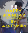HAPPY BORNDAY KATSUMI KABE BY: Ara Esmillo - Personalised Poster A4 size