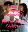 Happy Brithday to Hasanuddin Achmat - Personalised Poster A4 size