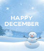 HAPPY DECEMBER    - Personalised Poster A4 size