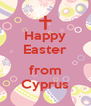 Happy Easter  from Cyprus - Personalised Poster A4 size