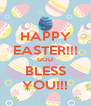 HAPPY EASTER!!! GOD BLESS YOU!!! - Personalised Poster A4 size