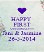 HAPPY  FIRST ANNIVERSARY!!!!! Jani & Jasmine 26-5-2014 - Personalised Poster A4 size
