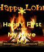 HappY First LOHRI My Love MJ - Personalised Poster A4 size