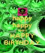 happy happy happy HAPPY BIRTHDAY - Personalised Poster A4 size
