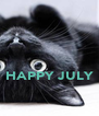 HAPPY JULY  - Personalised Poster A4 size