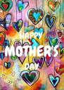HAPPY  MOTHER'S DAY  - Personalised Poster A4 size