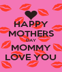 HAPPY MOTHERS DAY MOMMY LOVE YOU - Personalised Poster A4 size