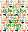 HAPPY NEW YEAR AND BEST WISHES - Personalised Poster A4 size
