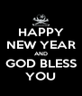 HAPPY NEW YEAR AND GOD BLESS YOU - Personalised Poster A4 size