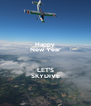 Happy New Year  LET'S SKYDIVE - Personalised Poster A4 size