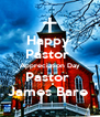 Happy  Pastor  Appreciation Day Pastor  James Bare  - Personalised Poster A4 size