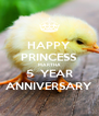 HAPPY PRINCESS MARTHA 5  YEAR ANNIVERSARY - Personalised Poster A4 size