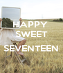 HAPPY  SWEET  SEVENTEEN  - Personalised Poster A4 size