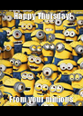 Happy Thursday!  From your minions - Personalised Poster A4 size