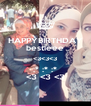 HAPPYBIRTHDAY bestieee <3<3<3 :* :* :* <3 <3 <3 - Personalised Poster A4 size