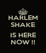 HARLEM SHAKE  IS HERE NOW !! - Personalised Poster A4 size