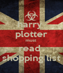 harry  plotter must read  shopping list - Personalised Poster A4 size