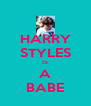 HARRY STYLES IS A BABE - Personalised Poster A4 size