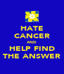 HATE CANCER AND HELP FIND THE ANSWER - Personalised Poster A4 size