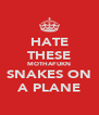 HATE THESE MOTHAFUKN SNAKES ON A PLANE - Personalised Poster A4 size