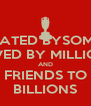 HATED BYSOME LOVED BY MILLIONS AND FRIENDS TO BILLIONS - Personalised Poster A4 size