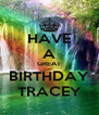 HAVE A GREAT BIRTHDAY TRACEY - Personalised Poster A4 size