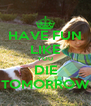 HAVE FUN LIKE YOU DIE TOMORROW - Personalised Poster A4 size