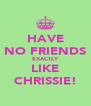 HAVE NO FRIENDS EXACTLY LIKE CHRISSIE! - Personalised Poster A4 size