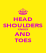 HEAD SHOULDERS KNEES AND TOES - Personalised Poster A4 size
