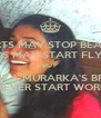 HEARTS MAY STOP BEATING BIRDS MAY START FLYING BUT  VEDIKA MURARKA'S BRAIN WILL NEVER START WORKING!!! - Personalised Poster A4 size