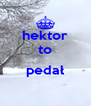 hektor to  pedał  - Personalised Poster A4 size